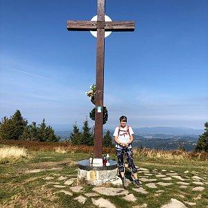 Radka Dubská na vrcholu Velká Rača (15.9.2021 10:54)