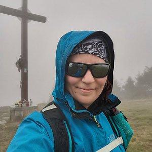 Daniela Vajsová na vrcholu Velká Rača (19.9.2021 13:26)