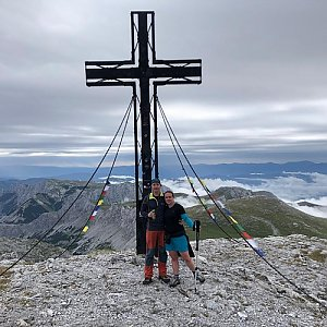 MíšaK na vrcholu Hochschwab (11.8.2019 9:20)