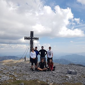 Denisa na vrcholu Hochschwab (6.5.2018 13:42)