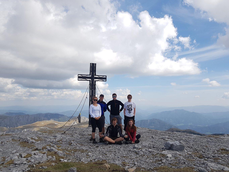 Denisa na vrcholu Hochswab (6.5.2018 13:42)