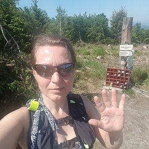 Marcela Kubíčková na vrcholu Skalka (19.6.2021 11:20)