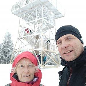 stebrony na vrcholu Barania Góra (5.1.2020 12:40)