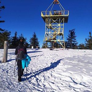 Vendula Valigurová na vrcholu Barania Góra (25.1.2020 9:14)