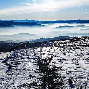 Jiří Němec na vrcholu Barania Góra (25.1.2020 10:00)