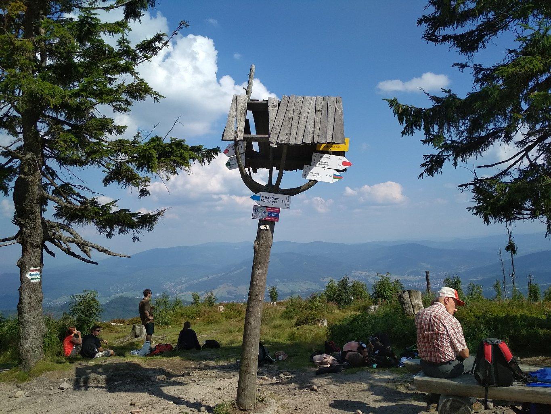 Katka na vrcholu Barania Góra (21.7.2018 15:58)