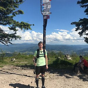 David na vrcholu Barania Góra (6.7.2020 15:15)