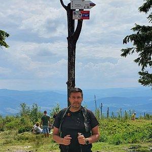 Jiří Gryz na vrcholu Barania Góra (26.7.2020 12:30)