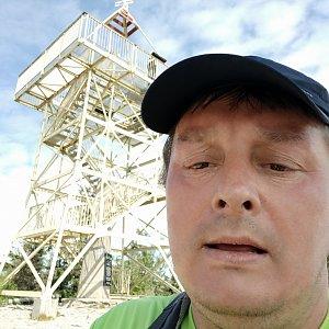 Roman Grebenar na vrcholu Barania Góra (31.7.2020 10:45)