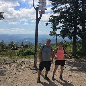 V+R na vrcholu Barania Góra (1.8.2020 10:50)
