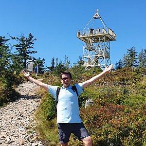 Luke na vrcholu Barania Góra (22.8.2020 12:48)