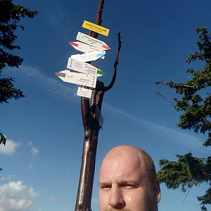 Petr Petrik na vrcholu Barania Góra (26.8.2020 17:48)
