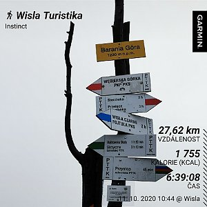 Medvěd Codiak na vrcholu Barania Góra (11.10.2020 12:25)