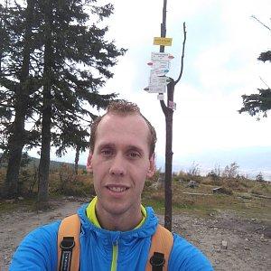 Radek na vrcholu Barania Góra (28.10.2020 14:46)
