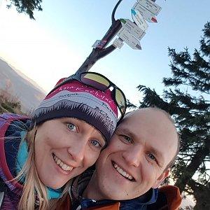 Michaela Karásková na vrcholu Barania Góra (8.11.2020 15:54)