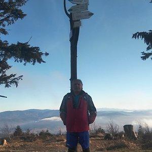 Jaroslav Hrabuška na vrcholu Barania Góra (19.12.2020 13:11)