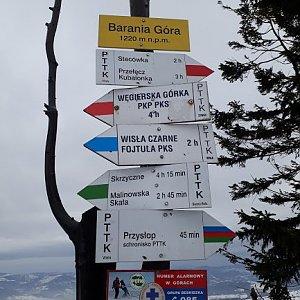 Paťule3 na vrcholu Barania Góra (3.2.2019 13:00)