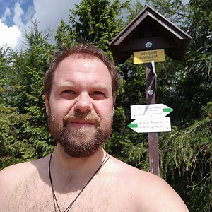 Petr Zajac na vrcholu Magurka Viślańska (30.6.2020 10:36)