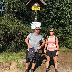 V+R na vrcholu Magurka Viślańska (1.8.2020 9:10)