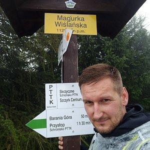 Jiří Tomaštík na vrcholu Magurka Viślańska (19.8.2020 17:50)