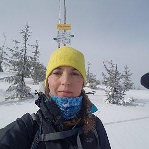 Marcela Kubíčková na vrcholu Zielony Kopiec (29.2.2020 10:31)