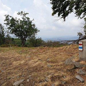 Petr Pepe Peloušek na vrcholu Velká Polana (8.8.2019 11:43)