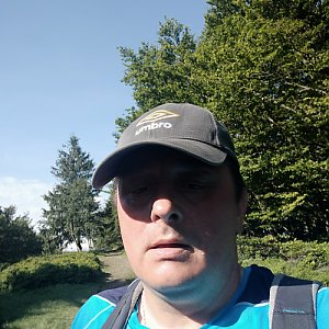 Roman Grebenar na vrcholu Velká Polana (29.7.2020 9:20)