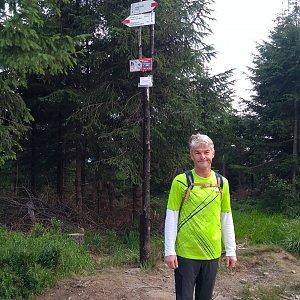 Jaroslav Macura na vrcholu Malinów (25.7.2021 7:54)