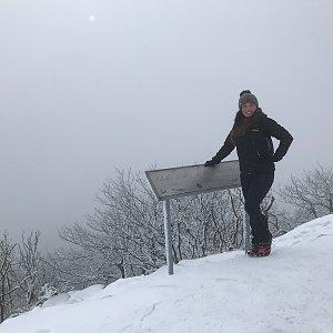 Alice Nádherová na vrcholu Klíč (6.2.2021 14:55)