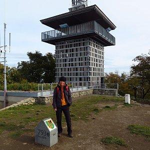 Iveta Válová na vrcholu Luž (19.10.2021)