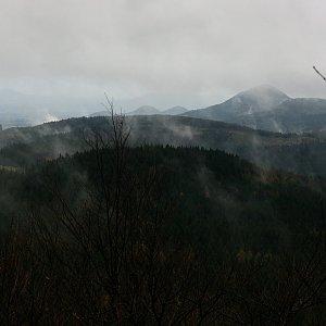 Bouřka na vrcholu Luž (28.10.2017 13:30)