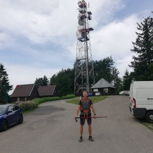 Tomáš Vašíček na vrcholu Mikulčin vrch (4.7.2021 10:20)
