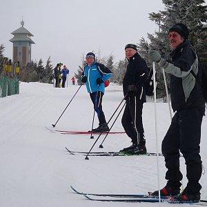 Jarda Vála na vrcholu Fichtelberg (22.2.2015 10:09)