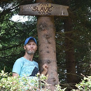 David Dudzik na vrcholu Slavíč (1.8.2019 12:19)