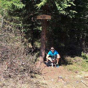 Jan Janiš na vrcholu Slavíč (22.4.2018 12:30)