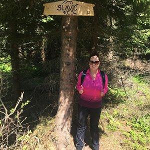Veronika Pastorková na vrcholu Slavíč (6.5.2018 11:46)