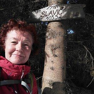 Anna na vrcholu Slavíč (26.1.2020 13:08)