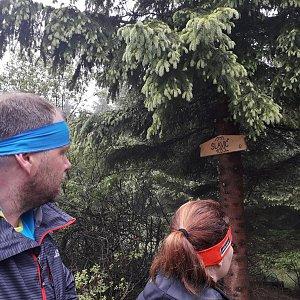Martin a Jana Halamíčkovi na vrcholu Slavíč (19.5.2018 11:39)
