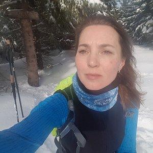 Marcela Kubíčková na vrcholu Slavíč (22.2.2020 13:43)