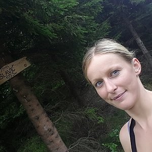 Michaela Karásková na vrcholu Slavíč (22.7.2018 14:06)