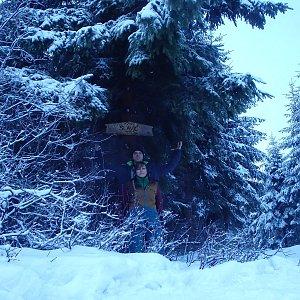 Vendula Kalocsányiová na vrcholu Slavíč (23.12.2018 15:45)