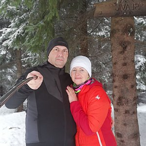 Dana + jirka na vrcholu Slavíč (24.1.2021 14:45)