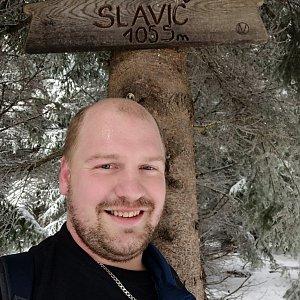 Petr Petrik na vrcholu Slavíč (28.2.2021 12:17)