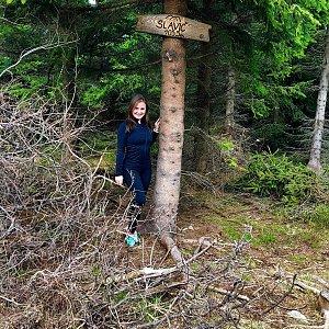 Nicole na vrcholu Slavíč (4.5.2019)