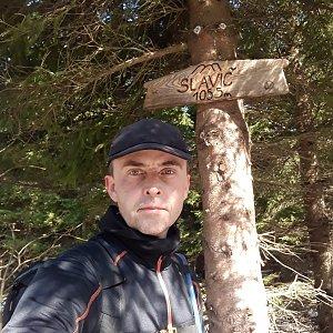Pavel Skřičík na vrcholu Slavíč (8.5.2019 9:39)