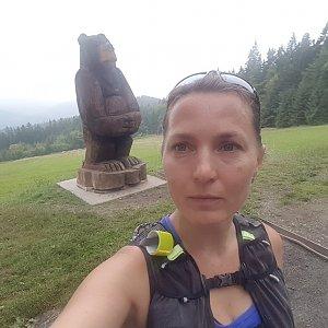 Marcela Kubíčková na vrcholu Slavíč (17.7.2021 8:34)
