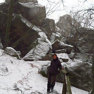 Iveta Válová na vrcholu Ořešník (14.12.2019 12:04)