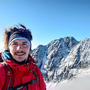 Martin Konvičný na vrcholu Východná Vysoká (4.10.2019 10:31)