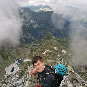 Martin Horáček na vrcholu Východná Vysoká (15.7.2020 10:11)