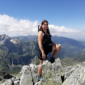 Zdeňka Máchová na vrcholu Východná Vysoká (5.7.2020 16:17)